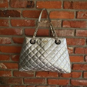Rare Kate Spade Quilted Silver Purse
